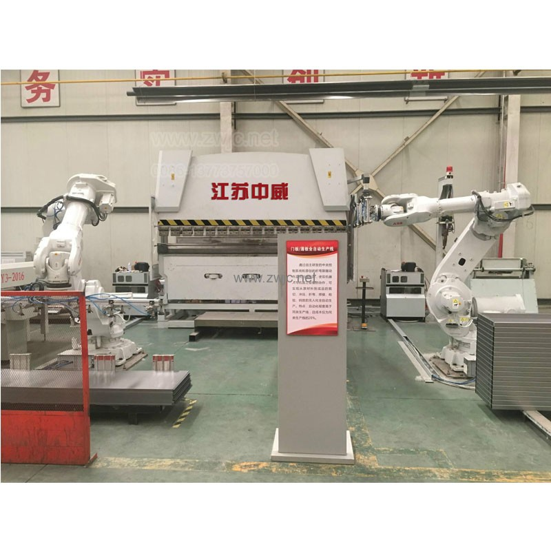 Press brake with robot