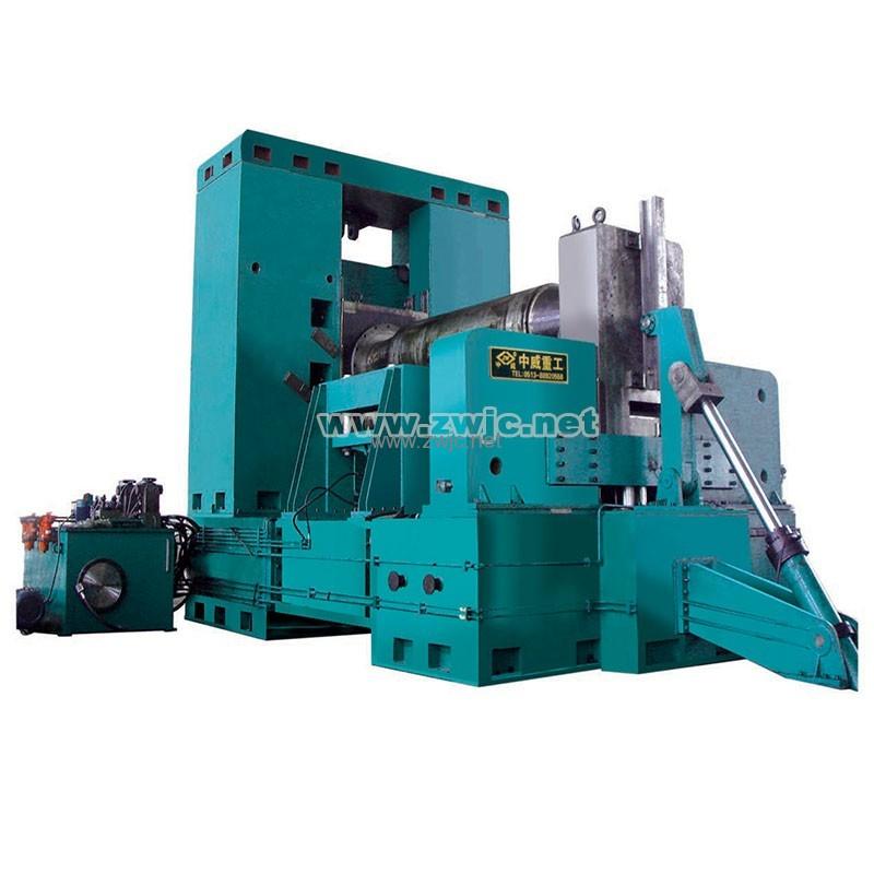 Horizontal adjustable plate rolling machine