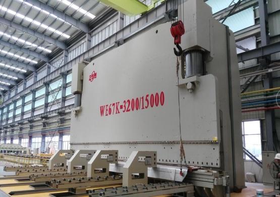 World First 3200T/15000mm Press Brake To Hantong Ship Company