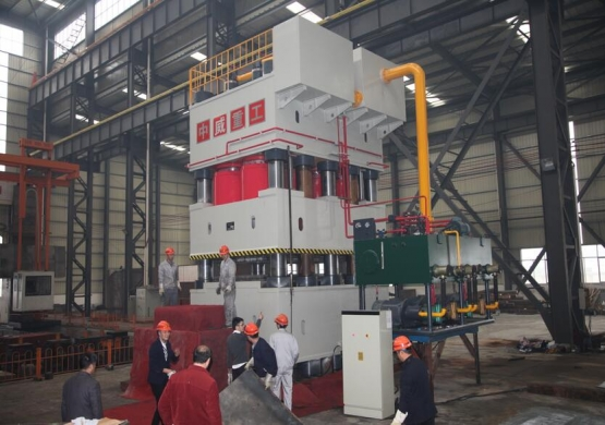 10000 Tons 4 Column Hydraulic Press For Door Flower test in sucessful
